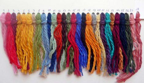 Gyapjúfonal színes