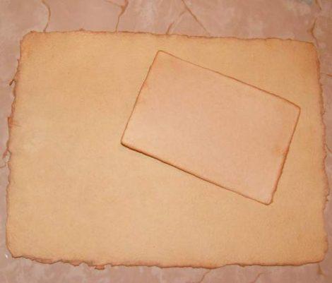 Merített papír (antikolt)