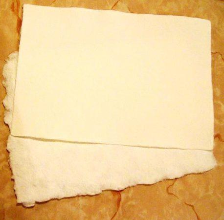 Merített papír (fehér)